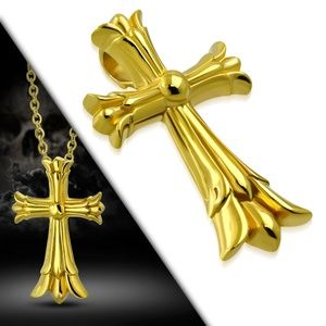 Gold Color Plated Stainless Steel Fleur De Lis